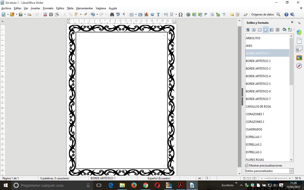 Bordes de página artísticos en Writer - Blog de LibreOffice Hispano