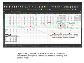 Buenas prácticas para crear un dashboard en Calc — 1B Organización de los datos