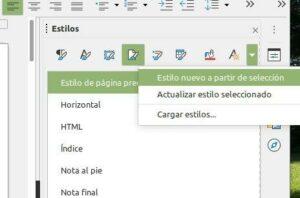 Creación de un nuevo estilo de página, LibreOffice Writer